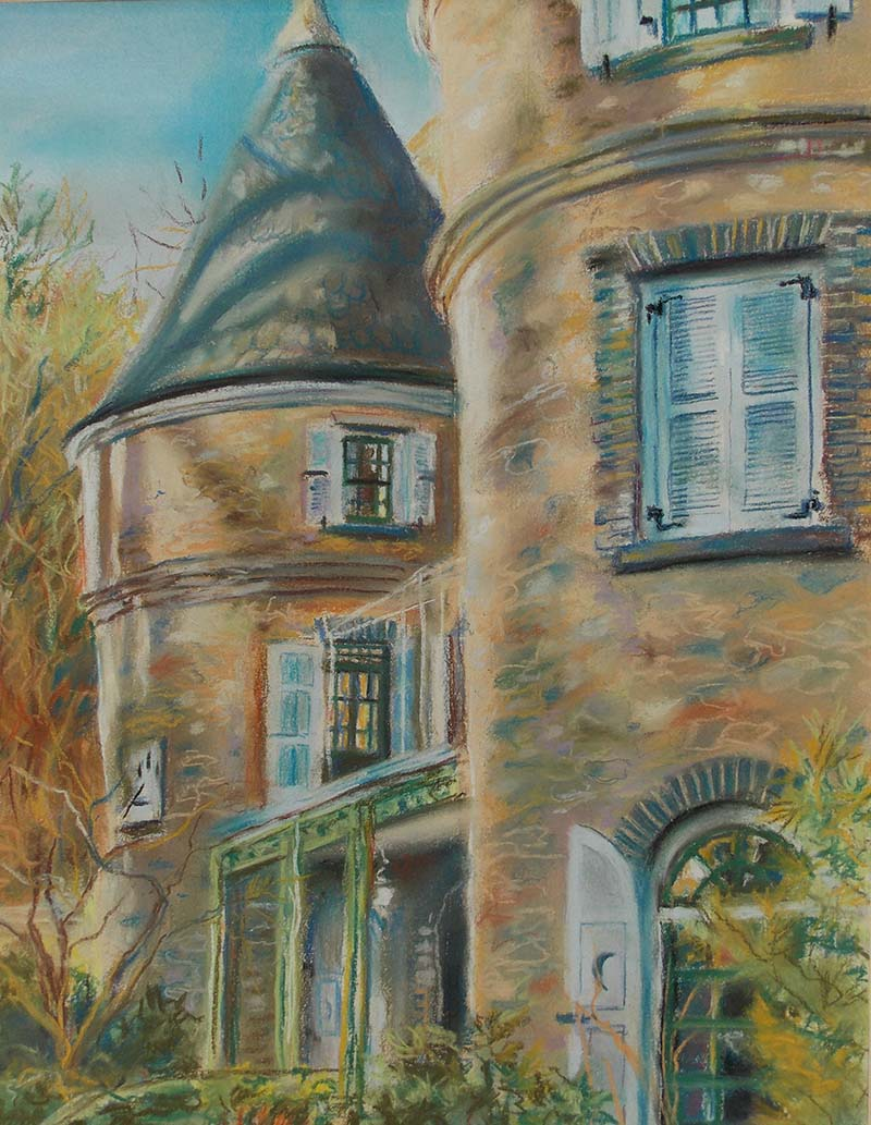Grey Towers Pastel