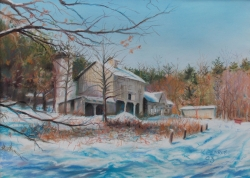 Winter Barn Pastels