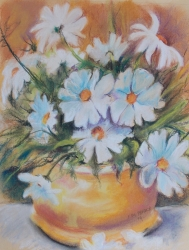 Potted Plant Flowers Pastel
