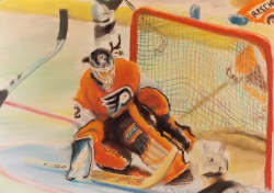 Flyers Goalie Pastel